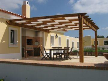Cobertura de terraço em madeira